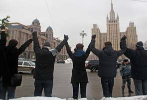 Russia police break up anti-Putin rallies outside Moscow