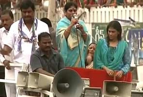 Jagan's mother launches campaign with stand-out numbers at rally