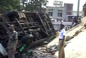 Bus falls off Chennai flyover, 30 injured