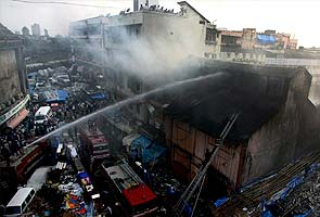 Fire near Manish market in Mumbai; one fireman injured