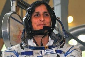 Sunita Williams finishes triathlon in space