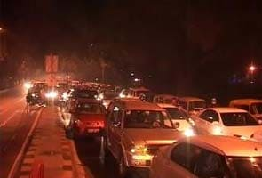 On Diwali weekend, massive traffic jams across Delhi