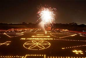 Diwali lights up India