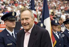 Former US President George H W Bush in stable condition