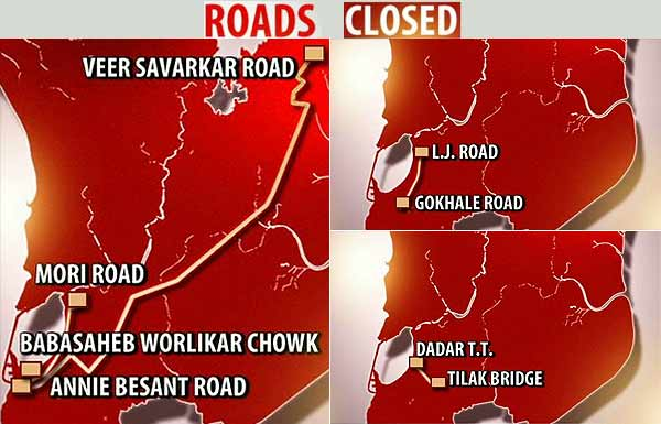 Bal Thackeray funeral: Traffic restrictions in Mumbai