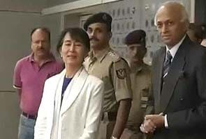 Suu Kyi in India after 40 years