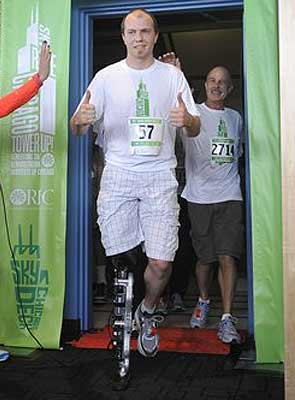 Amputee climbs 103 floors of Chicago skyscraper using thought-controlled bionic leg