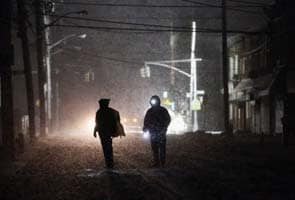 After Superstorm Sandy, northeast US deals with more wind, snow