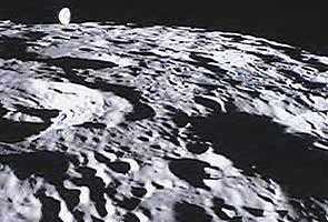 Below surface, moon is a battered, cracked heap