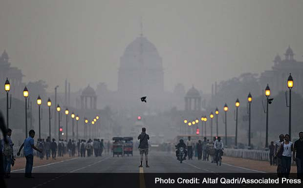 Indian city overwhelmed by air pollution