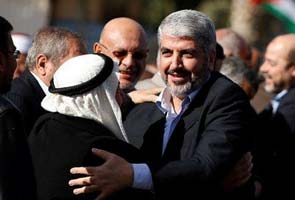 Hamas chief Khaled Mashaal arrives in Gaza for first-ever visit