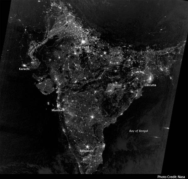 NASA releases map of India on Diwali night
