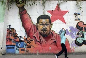 Supporters rally in show of support for Hugo Chavez