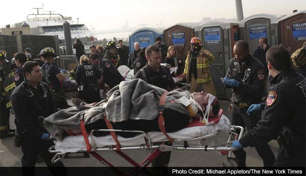 Dozens injured in ferry accident in lower Manhattan