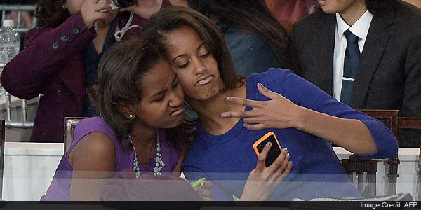 On day that's anything but normal, Obama girls are just that