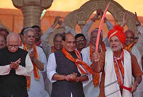 BJP chief Rajnath Singh hints at bigger role for Narendra Modi
