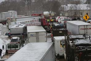 Two children, one adult die in Detroit freeway pileups