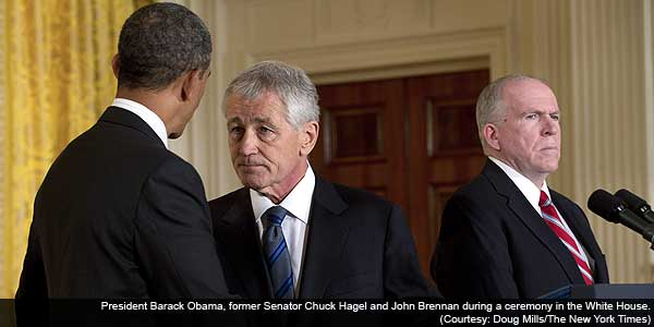Obama picks Hagel for Defence and Brennan for CIA