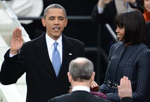 Barack Obama publicly sworn in for second term