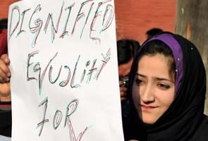 Jammu and Kashmir: Protest against violence on women