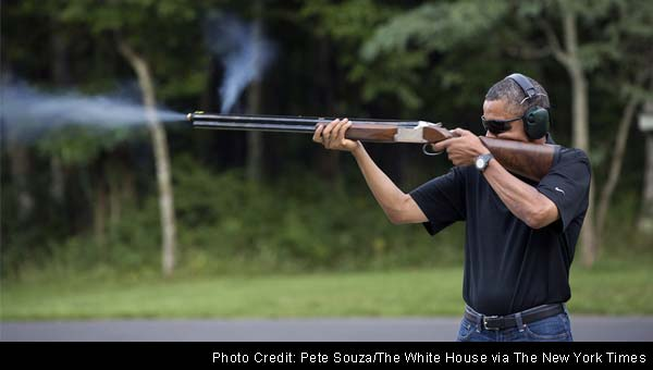 White House offers proof of Obama's shooting hobby