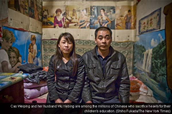 In China, families betting it all on a child in college