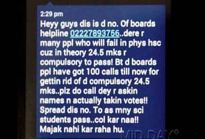 Fake SMS sends class 12 students into a tizzy