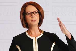 Teary Australia PM Julia Gillard's election campaign off to rocky start