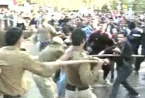 Students protest outside venue of Narendra Modi's speech