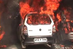 Bharat bandh: factories, cars vandalised in Noida near Delhi