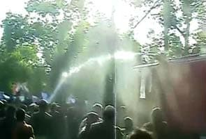 1800 students at SRCC for Narendra Modi's speech; water cannons, lathis used on protesters outside venue