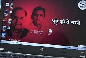 Akhilesh Yadav's free laptops for students boot up with Mulayam photo