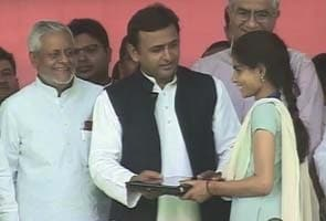 Akhilesh Yadav's 2-crore ads celebrate lion safari, freebie laptops