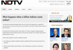 Watch NaMo, Omar, Eric Schmidt at Google Big Tent Activate Summit on ndtv.com