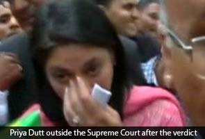 Sanjay Dutt's sister Priya Dutt breaks down after court verdict