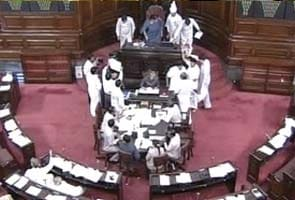 Chairperson's mike broken, Rajya Sabha session ends with unruly scenes