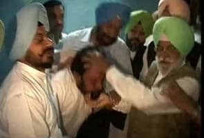 Woman beaten by Punjab cops tries to enter Punjab Assembly