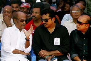 Rajinikanth, other actors hold day-long hunger strike for Sri Lankan Tamils