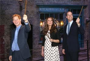 William, Kate and Harry spend day at studios where Harry Potter was filmed