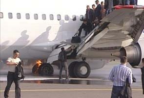 Plane catches fire while landing in Moscow; no injuries reported