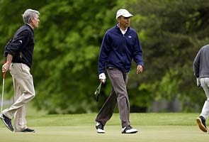 Barack Obama loses to Republicans in a game of golf