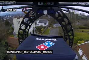 Flying pizza! Soon, a drone might deliver your Domino's order