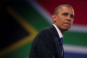 Barack Obama tours prison where Nelson Mandela toiled