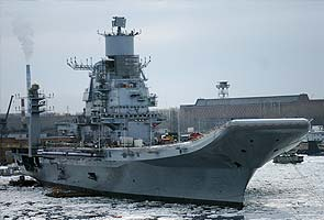 INS Vikramaditya, India's second aircraft carrier, out at sea again