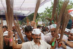 Arvind Kejriwal's Aam Aadmi Party launches broom as party symbol