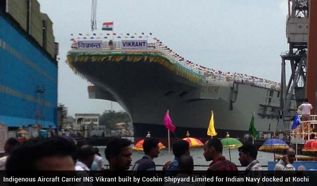 India milestone as it launches own aircraft carrier INS Vikrant