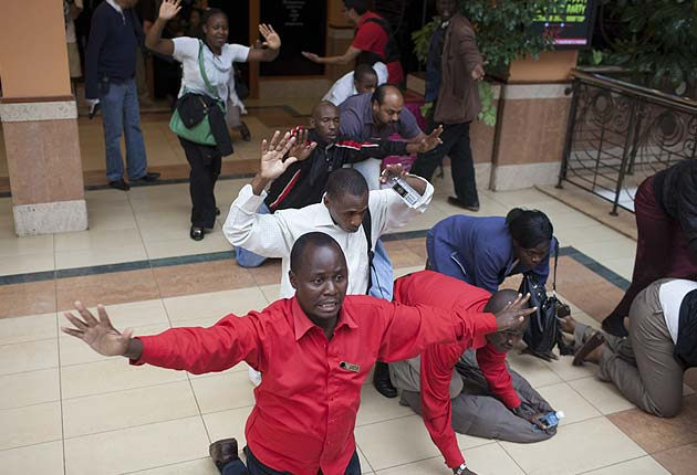 Kenyan mall becomes war zone as gunmen kill dozens