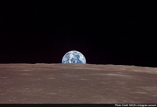 earth from the moon nasa-#40