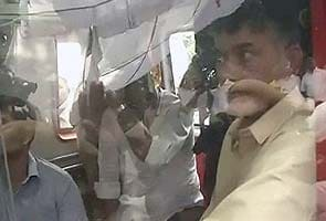 Telangana fallout: fasting Chandrababu Naidu evicted from Andhra Bhavan, taken to hospital