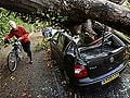 Fierce storm in UK and France kills two, 130 flights cancelled